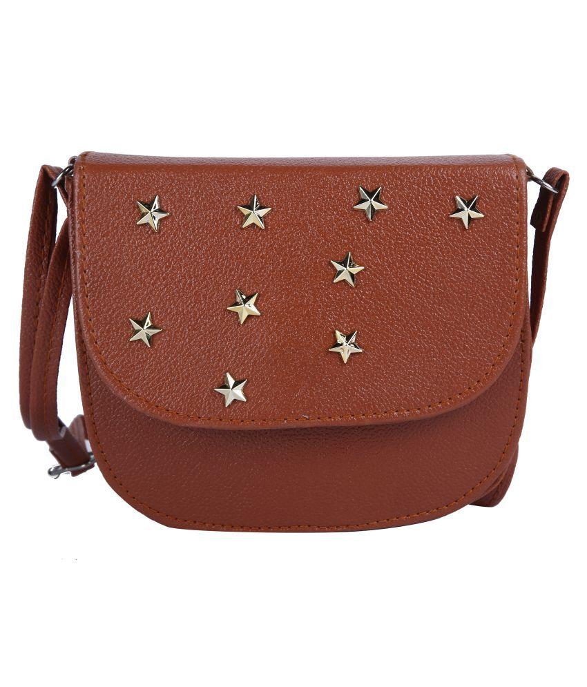 Hawai Brown Casual Messenger Bag