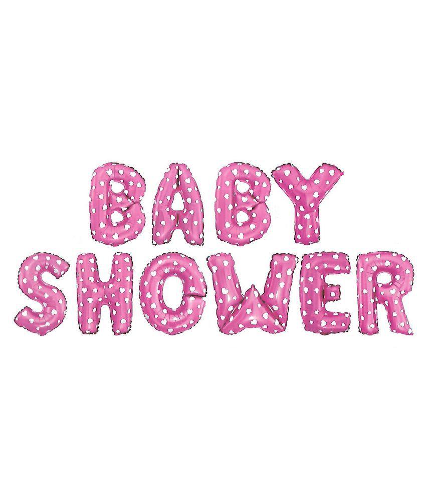 Baby Shower Letter Balloons.Utkarsh Baby Shower 10 Alphabets Foil Solid 16 Letter