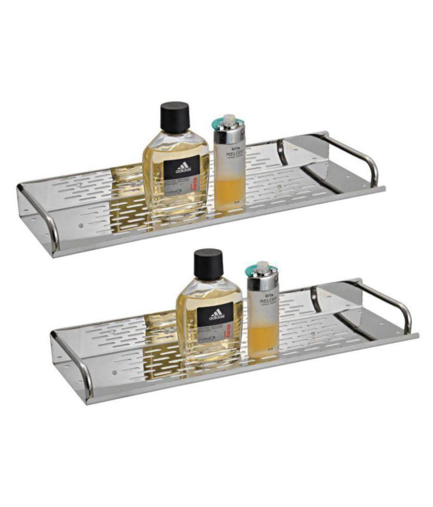 Logger Stainless Steel Wall Hung Shelf