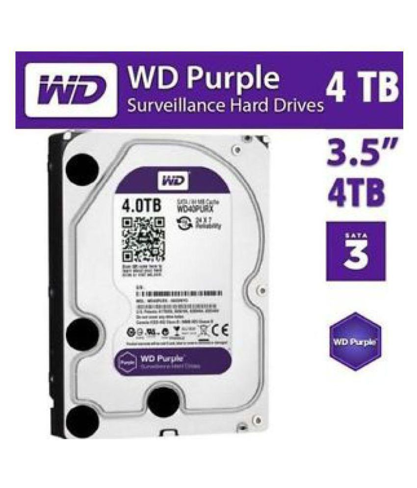 Western Digital WD40PURZ-85TTDY0 4 TB Internal Hard Drive Internal Hard drive