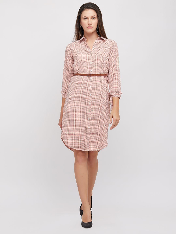109 F Cotton Pink Regular Dress