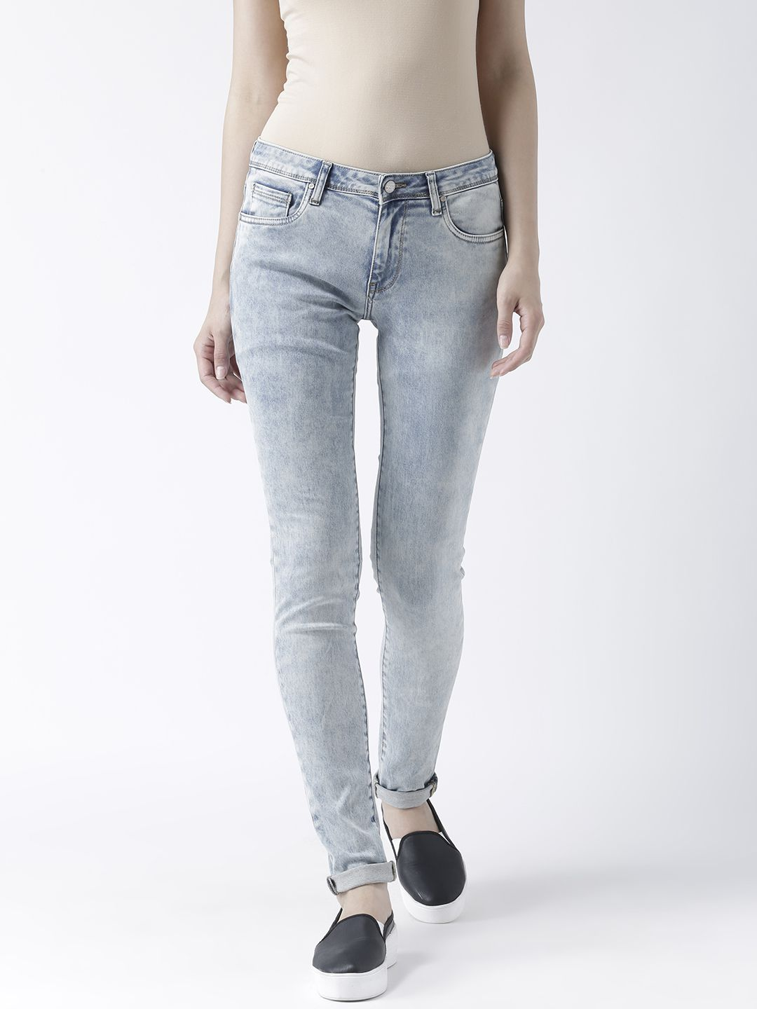 Fusion Beats Cotton Jeans - Blue