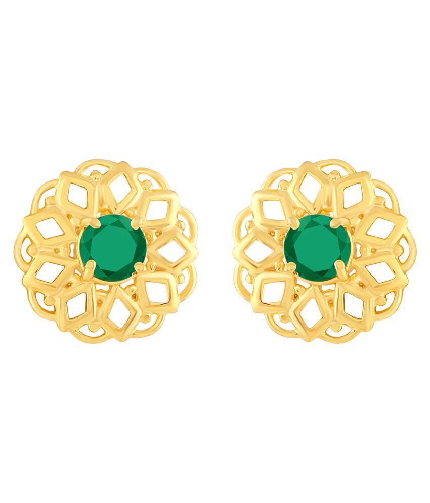 MFJ Fashion Jewellery Classy Brass Gold Plated Stud Earring For Women
