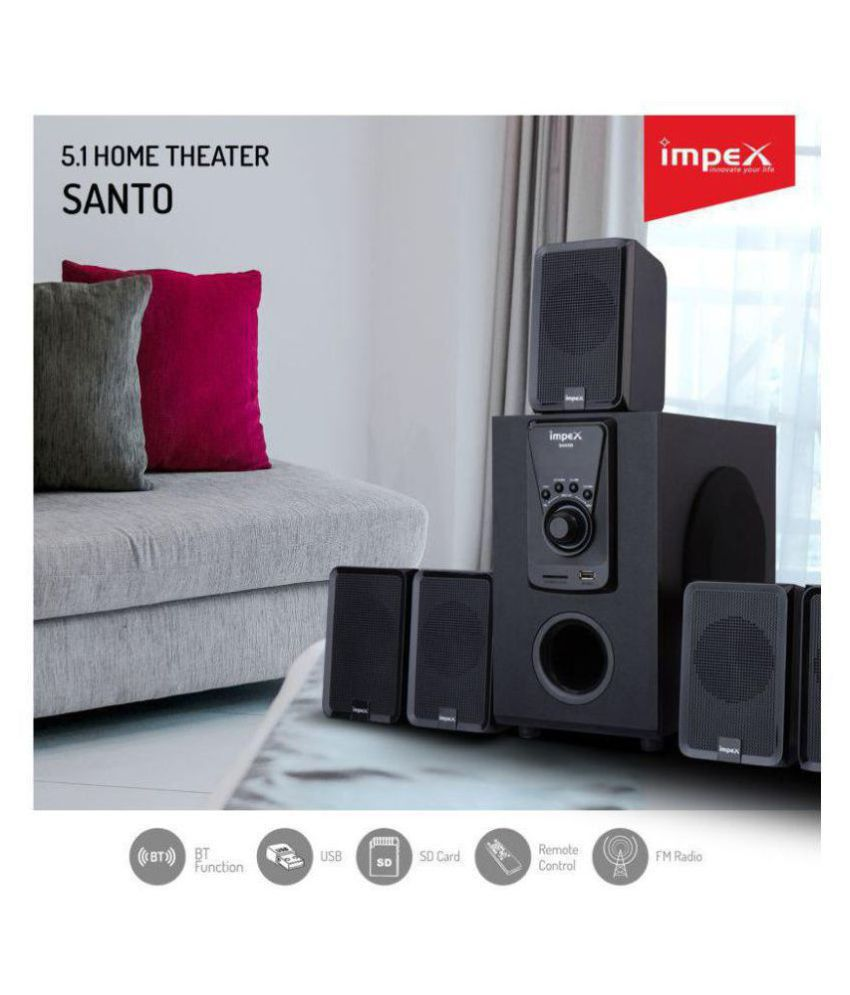 buy impex santo with bluetooth 5 1 speaker system online at best rh snapdeal com