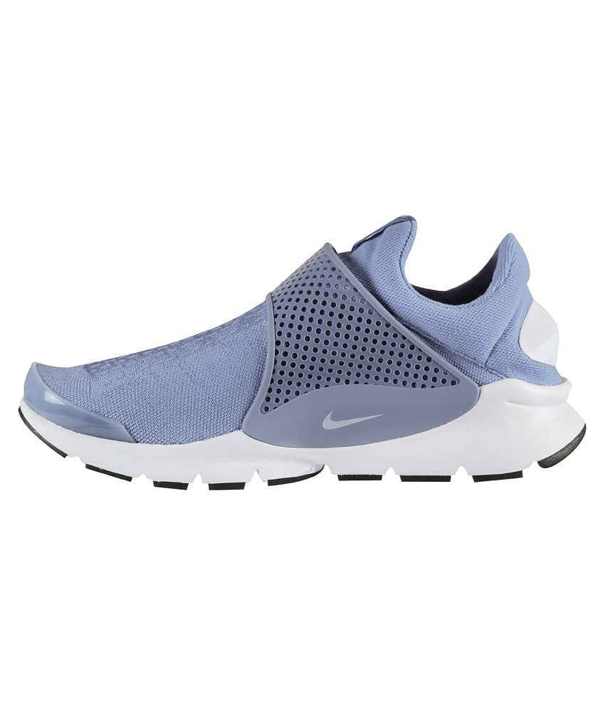 the latest bb788 7e1d5 Nike Sock Dart Blue Running Shoes
