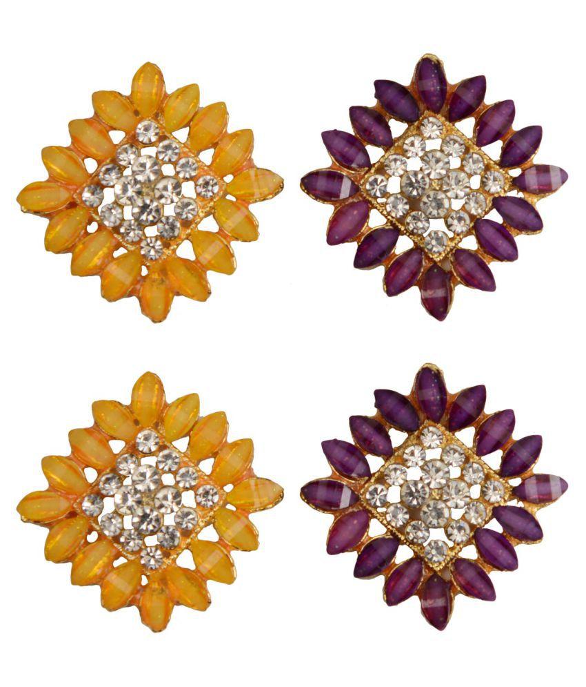 Taj Pearl Two pairs designer Stud earrings