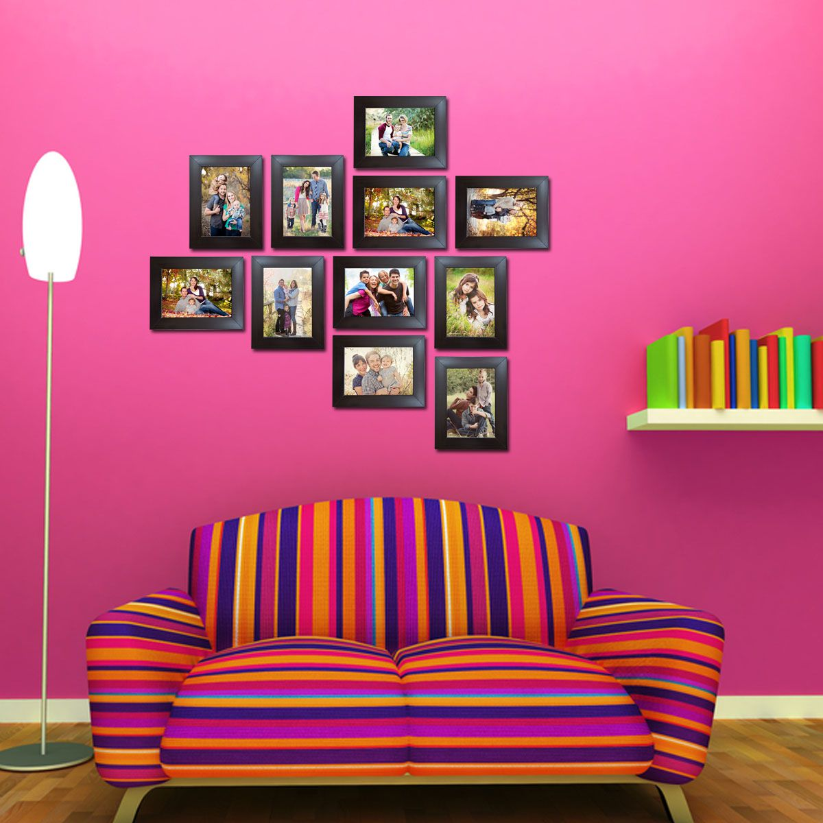 Trends on Wall Acrylic Brown Photo Frame Sets - Pack of 11
