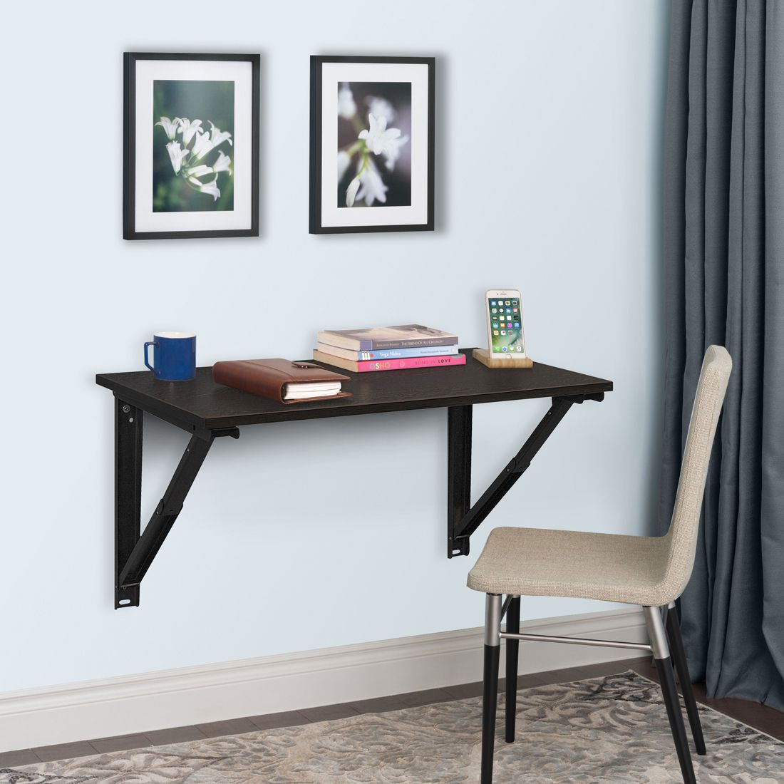 32 inches Wizard Folding Study/Laptop table Table Wenge Colour by Delite kom