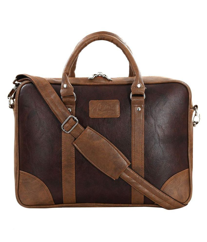 Leather Gifts Laptop Bag Tan Leather Office Bag