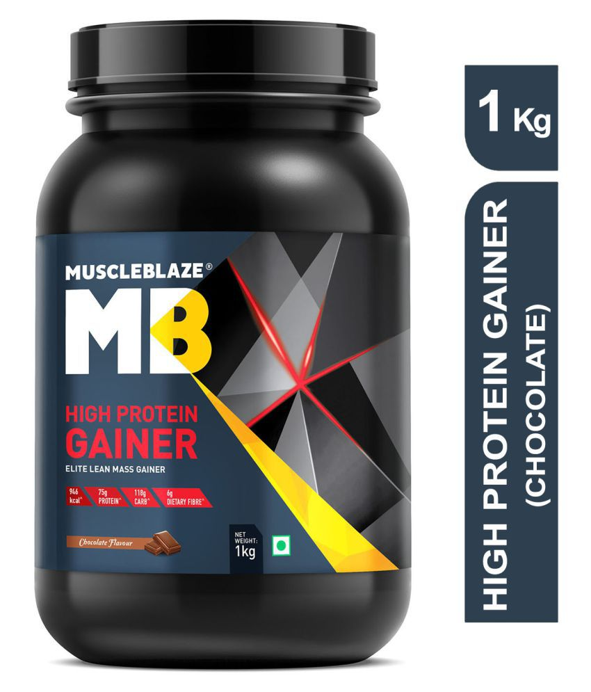 MuscleBlaze High Protein Lean Mass Gainer 1 kg Weight Gainer Powder
