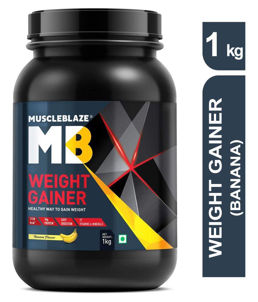 MuscleBlaze Weight Gainer with Added Digezyme 1 kg Weight Gainer Powder