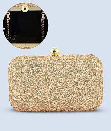 50b0051950e1 Gold Color Clutches: Buy Gold Color Clutches Online at Low Prices on ...