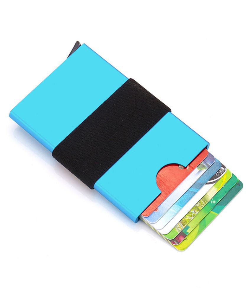 Pouches Bags and Storage for Your Fashion Needs Blue Women Men ID Credit Card Protector Leather Wallet Card Holder Package Box BU