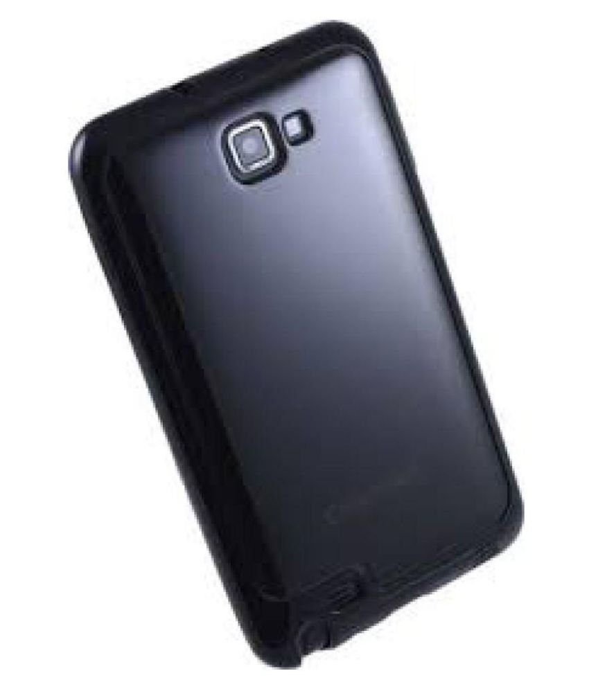 Samsung Galaxy Note Plain Back Cover By Mobizzz Black