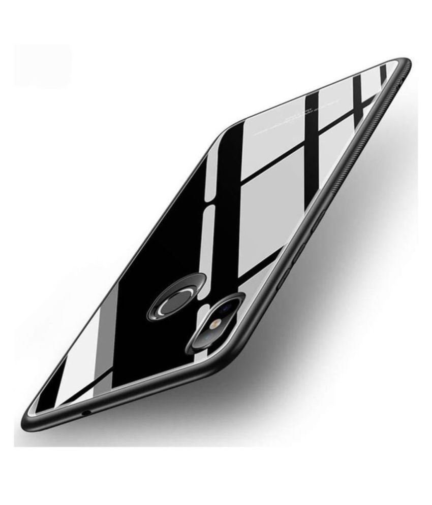 Xiaomi Redmi Y2 Glass Cover KOVADO - Black 360°  Luxurious Toughened Glass Back Case
