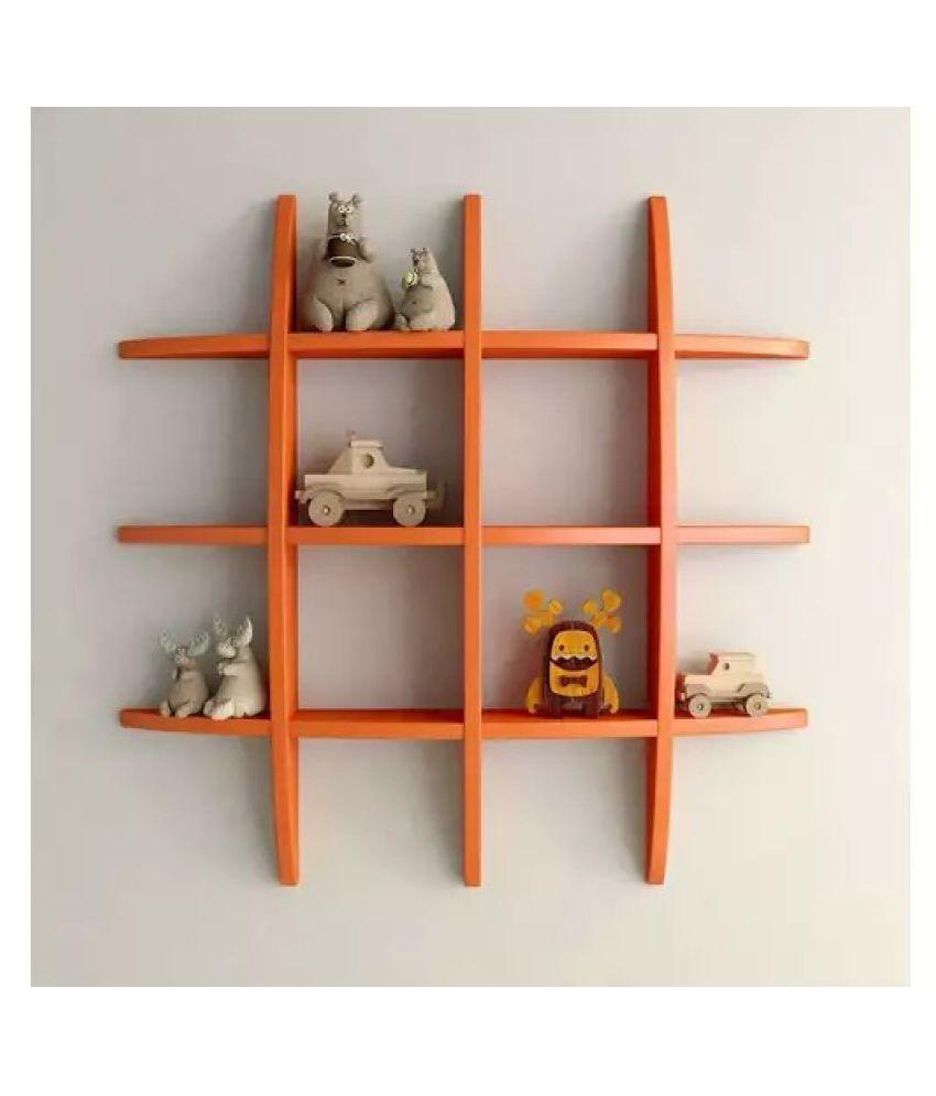 Onlineshoppee Floating Shelves Orange MDF - Pack of 1