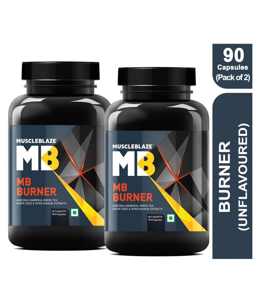 MuscleBlaze Fat Burner 910 mg (Pack of 2) 90 no.s Fat Burner Capsule