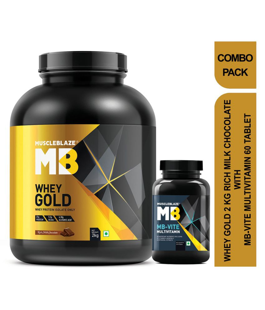 MuscleBlaze Whey Gold with MB-VITE 2 kg