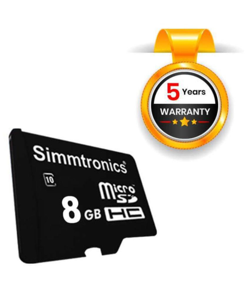 Simmtronics 8  GB Class 10 Memory Card