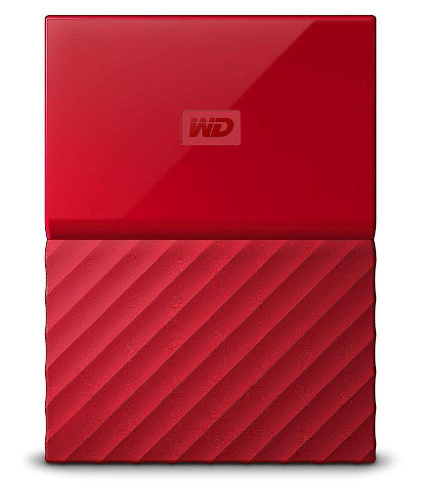 WD My Passport 3 TB External Hard Drive (Red)