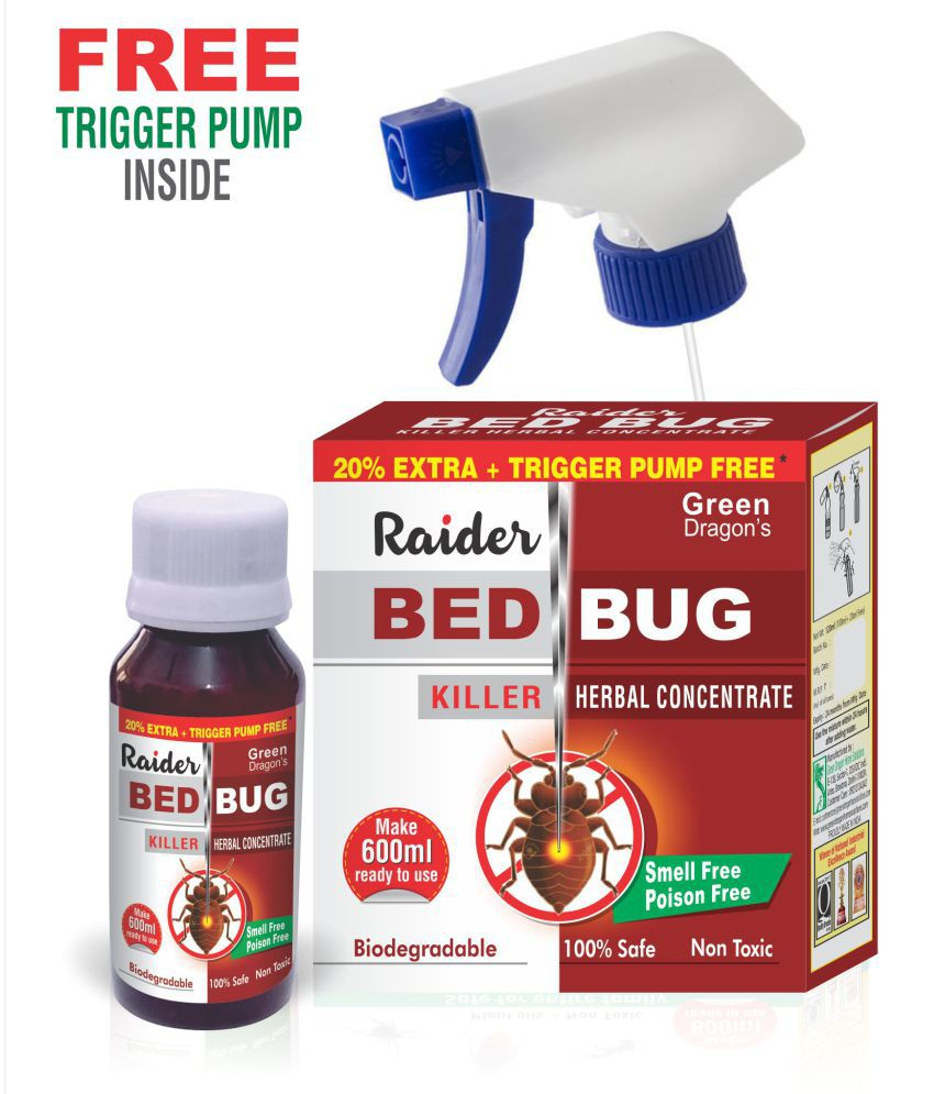 GREEN DRAGON'S Bed Bug Spray Raider, Ready to Use, Free Trigger Pump