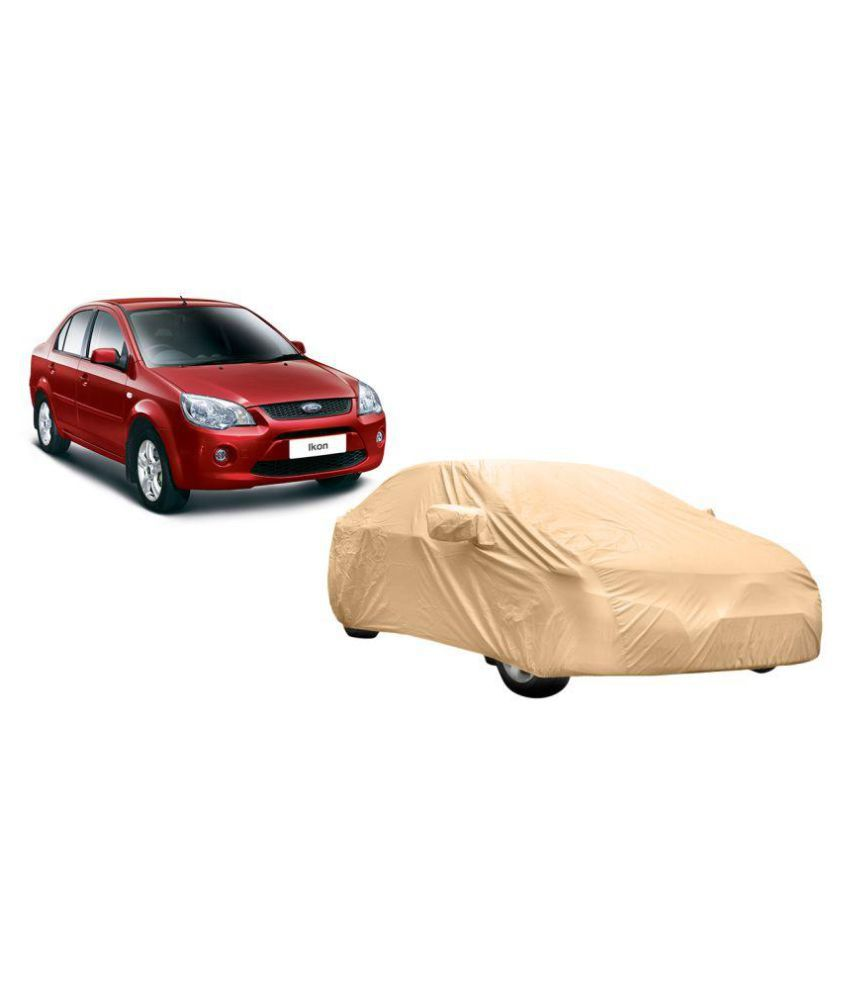 Alexus Car Cover for Ford Ikon (Mirror Pockets) (Beige)