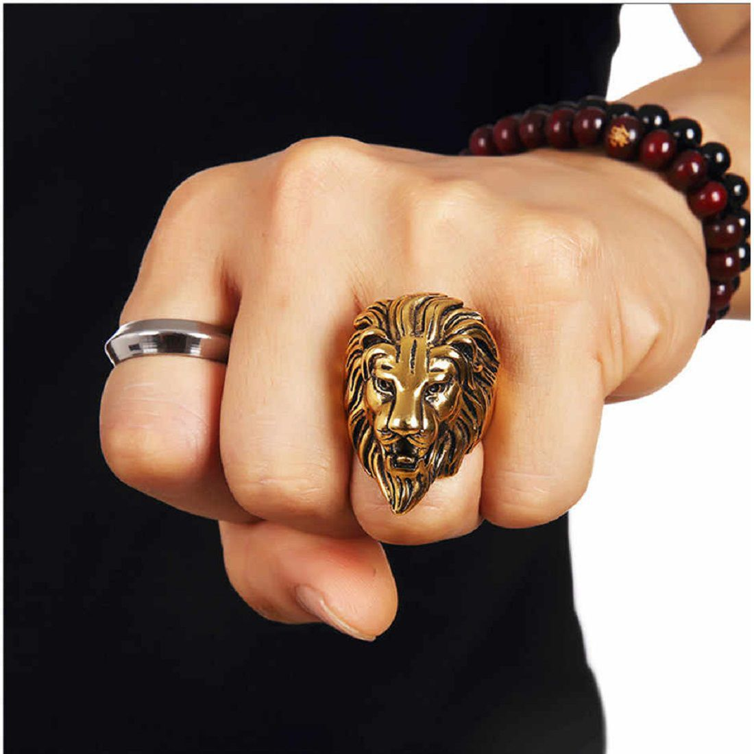 Gold Lion Ring Best Quality Gold Lion Head Ring Unisex