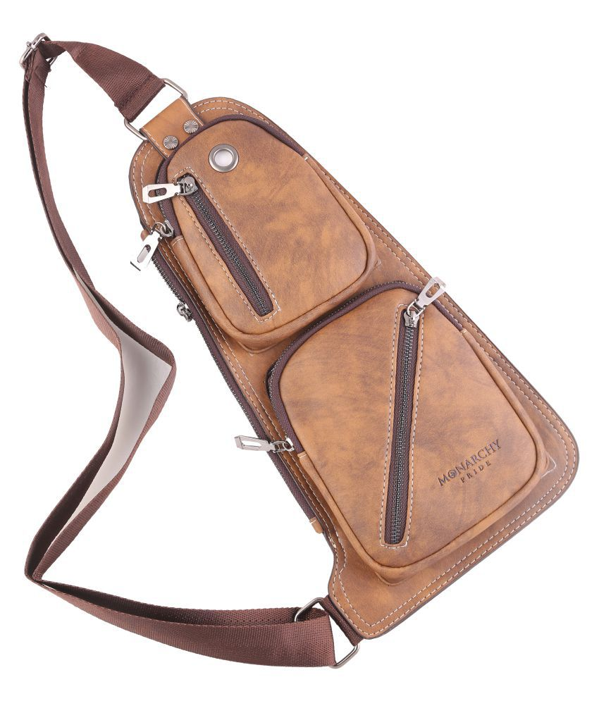 monarchy pride crossbody bag Brown Leather Casual Messenger Bag