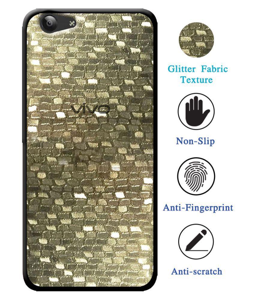 Vivo Z1 Lite Soft Silicon Cases Cellmate - Golden Luxurious Glossy Glitter Pattern