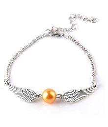 Single Strand Wings Bracelet Vintage (Silver)