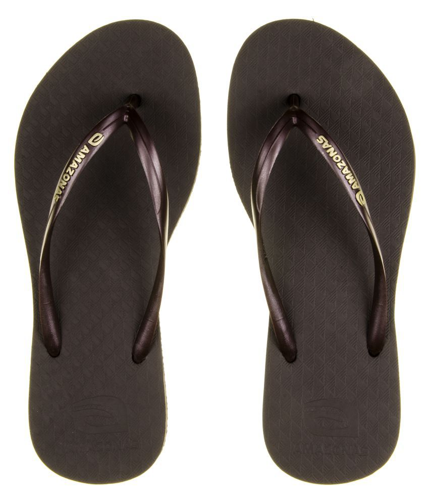 AMAZONAS Brown Slippers