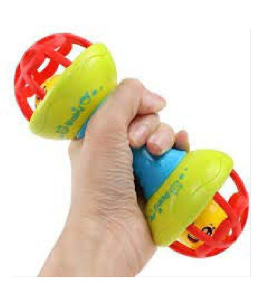 Creative Kids Colorful Dumbbell Ball Rattle For Babies