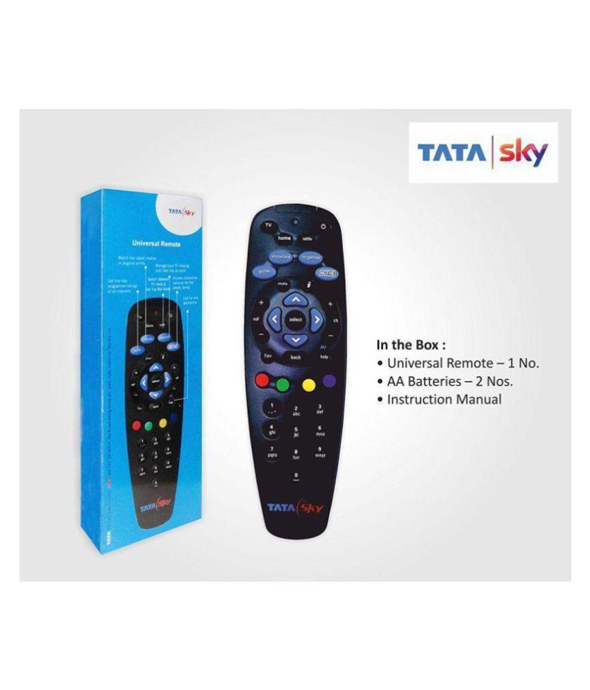 Chamunda Enterprise TATA SKY DTH Remote Compatible with Tata Sky