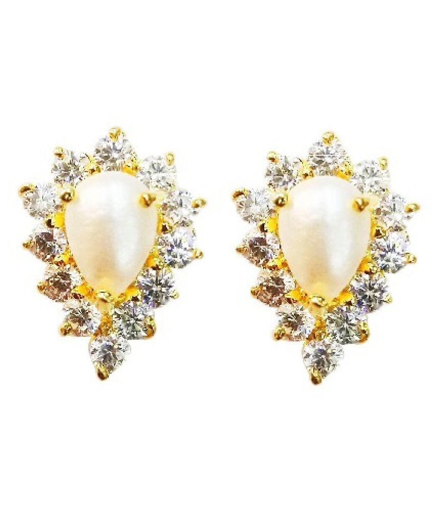 Vinayak real pearls Royal Cluster  earring