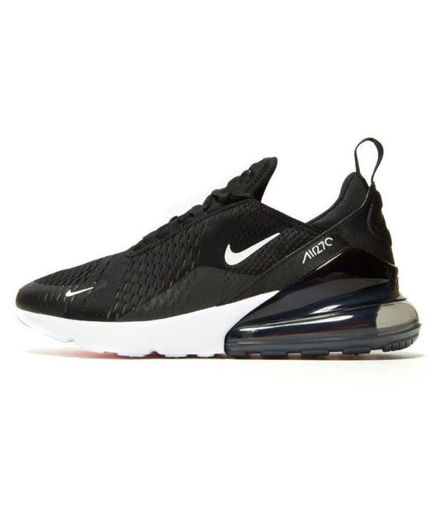 quality design e41a4 681af Nike AIR MAX 270 2018 Black Running Shoes