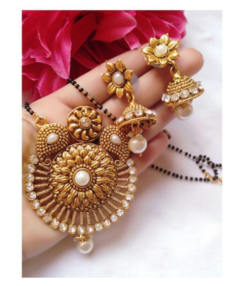 Bhagya Lakshmi Women's Pride Gold Plated Mangalsutra For Women