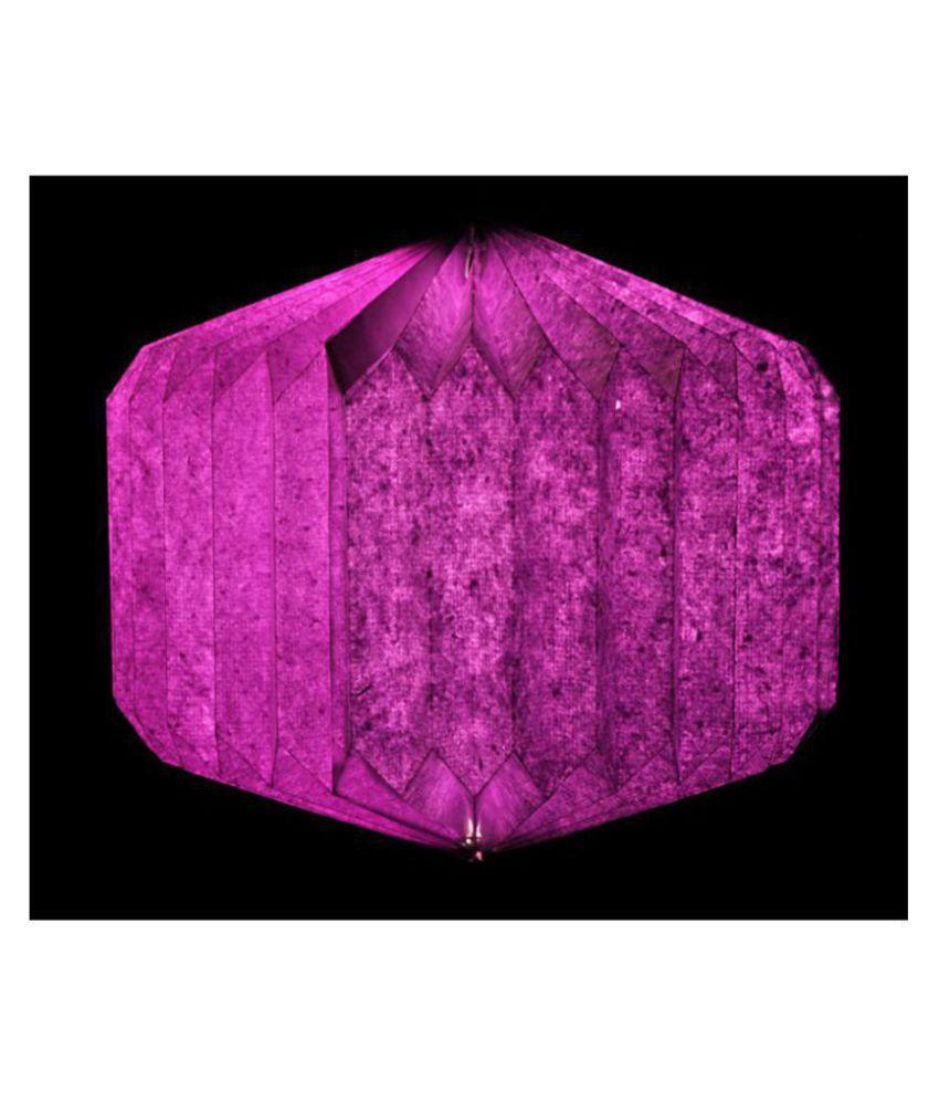 Lal Haveli Paper Decorative Hanging Lamp Night Light  Pendant Purple - Pack of 1