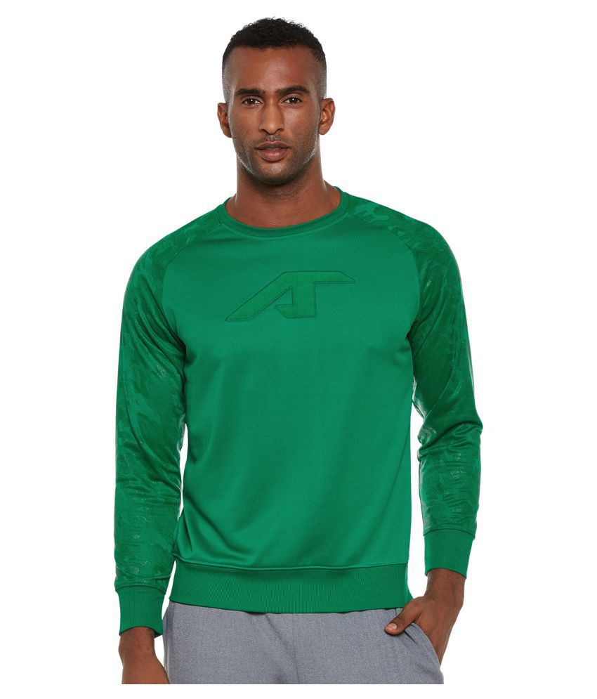 Alcis Green Polyester Terry Sweatshirt Single Pack