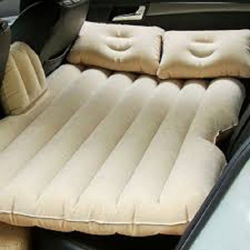 BK10 IMPORT & EXPORT Inflatable Travel Car Bed Air Sofa with Two Inflatable Pillow and Air Pump for Car Back Seat