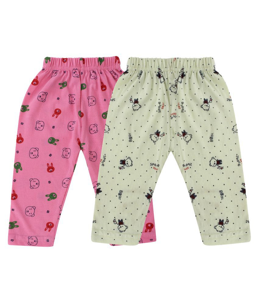 DIAZ® Unisex 100% Soft Cotton in attractive Colour Baby pajama, baby Pajami, Baby Leggings, baby track pants , baby sleepwear (Set of 2) between 0 to 24 Months ( for infant boys and girls )