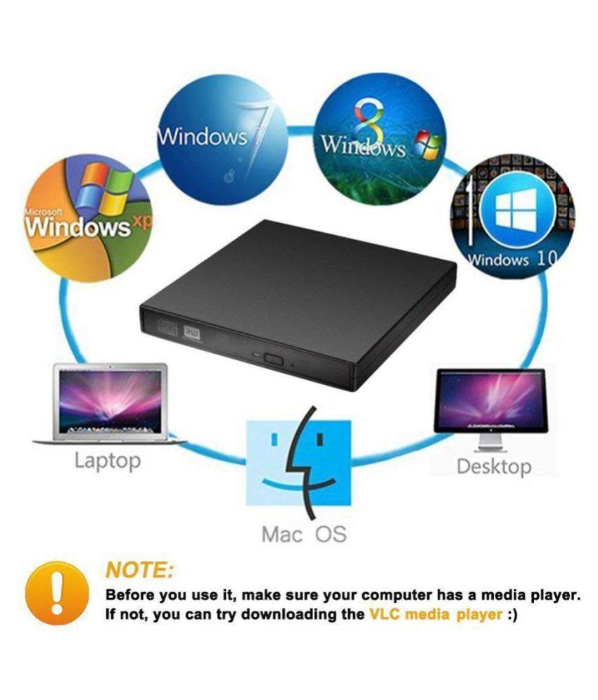 Storite CD RW Optical Drive Black External DVD Writer Burner Writer for  Windows 10/8/7 Laptop Desktop PC