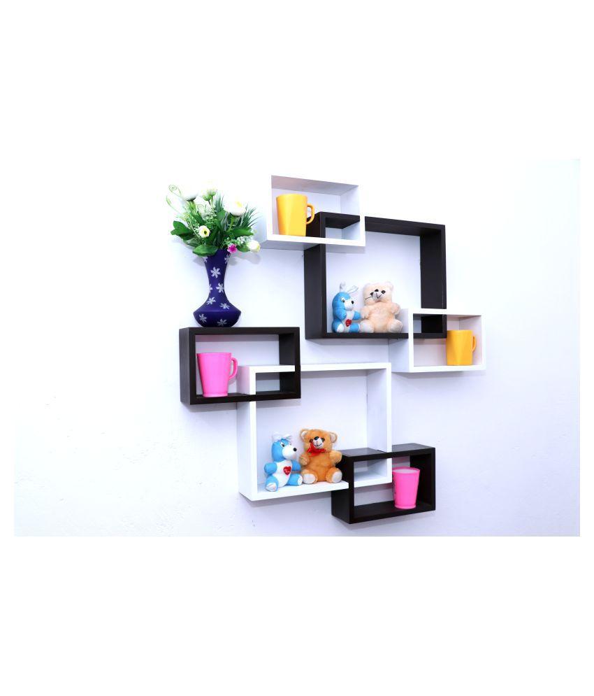woodworld Floating Shelves Multicolour MDF - Pack of 2