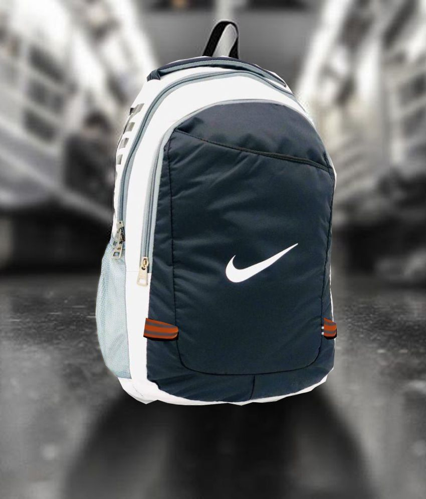 Nike Black \u0026 White 24 Ltrs Polyester College Bags school bag Laptop Bag,  14.6 inch Backpacks Shoulder Bag For Men \u0026 Women