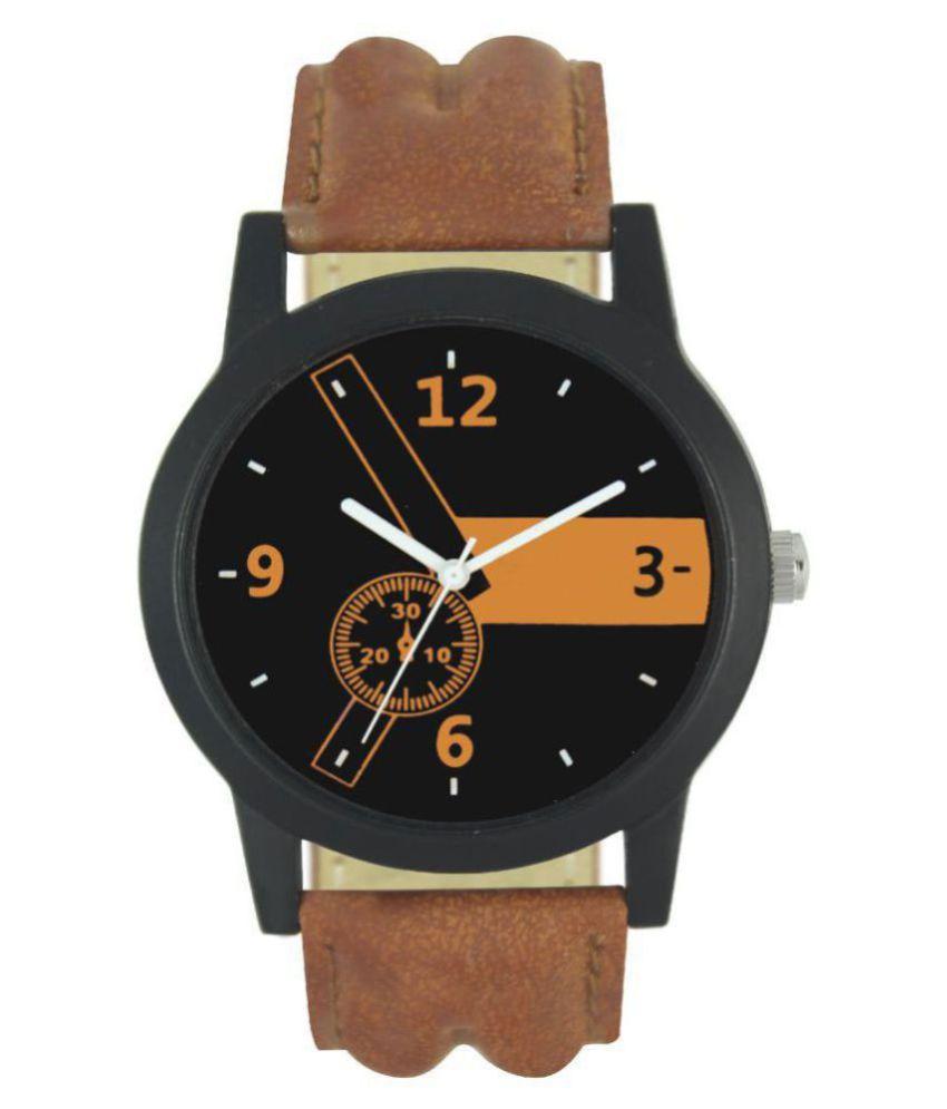 DENIEL ENTERPRISE Lr 01 Leather Analog Men #039;s Watch