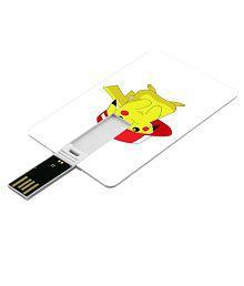 SmartNxt Credit Card Shape Designer 32GB Pen Drive -Cartoons - Pokemon / Pikachu