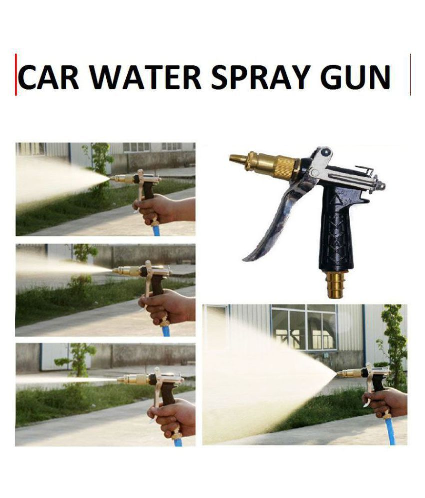 Brass High Pressure Nozzle- Water Spray Gun for Car, Motorcycle & Bike Cleaning Wash Machine - Connects to 1/2 inch Hose Pipe