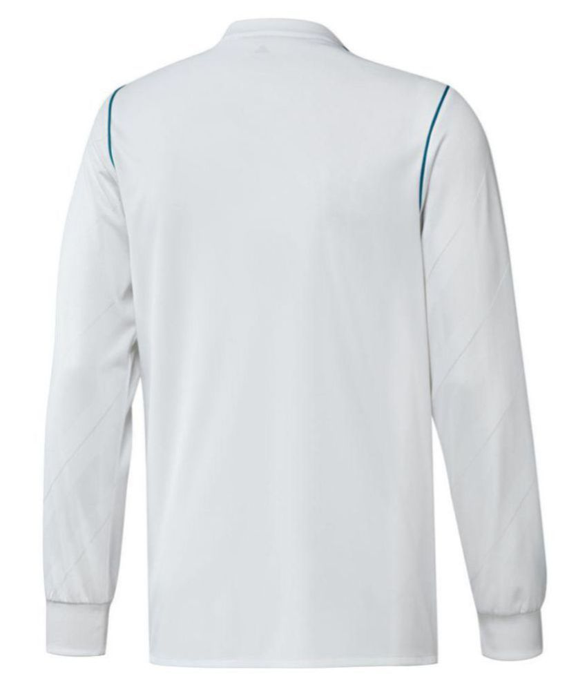 online retailer 135cc 4b6ea Real Madrid Home Long Sleeves Jersey 17/18