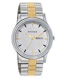 Titan 1650bm01 Metal Analog Men's Watch