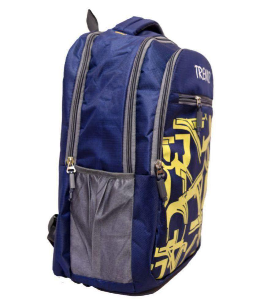 buchins Blue Polyester College Bag