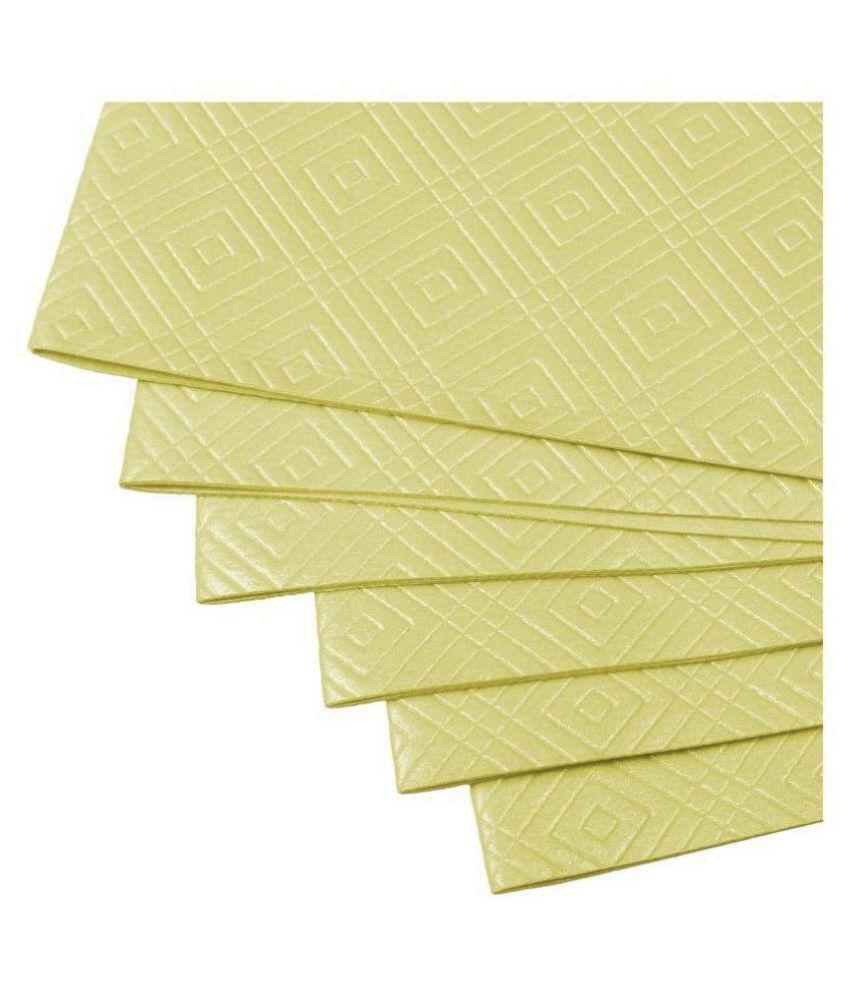 Delfe Set of 6 PVC Yellow Fridge Mats